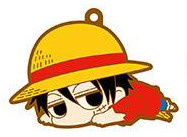 main photo of One Piece Darun Rubber Strap Collection: Monkey D. Luffy