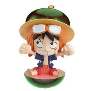 main photo of One Piece Petit Chara Land Strong World Fruit Party: Monkey D. Luffy Green Version
