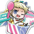 Ace of Diamond Acrylic Food Keychain: Narumiya Mei