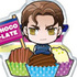 Ace of Diamond Acrylic Food Keychain: Takigawa Chris Yuu