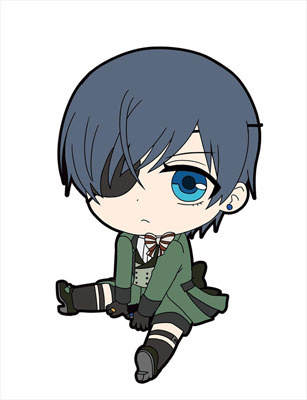 main photo of Kuroshitsuji Book of Murder Petanko Trading Rubber Strap: Ciel Phantomhive