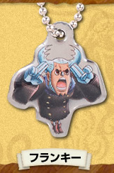 main photo of One Piece Log Memories Plate Keychain: Nami, Franky