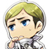Doujin Goods Shingeki no Kyojin Metal Charm: Erwin Smith Cleaning ver.