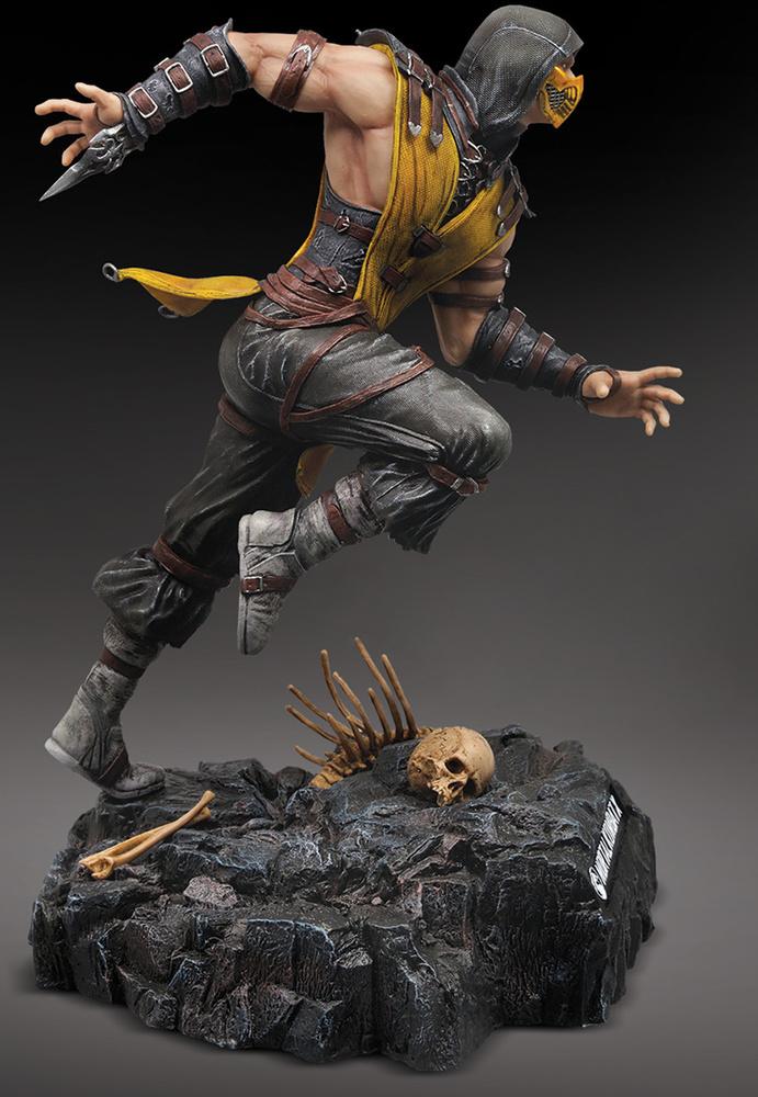 Scorpion Mortal Kombat X Hand Painted Statue