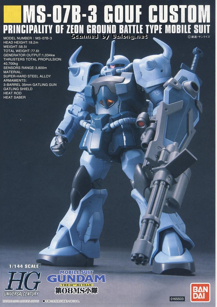 Image result for HGUC 1/144 Gouf Custom