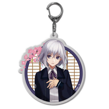 main photo of Touken Ranbu Keychain (Uchiban) Vol.1 10: Honebami Toushirou