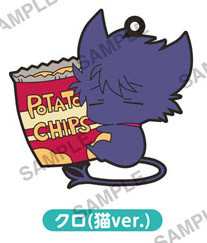 main photo of SERVAMP PitaColle Rubber Strap: Kuro cat ver.