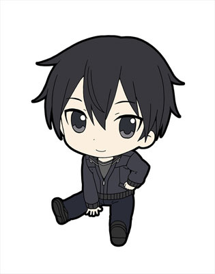 main photo of Sword Art Online II Pentako Trading Rubber Strap: Kirigaya Kazuto