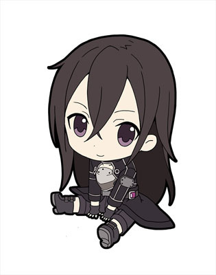 main photo of Sword Art Online II Pentako Trading Rubber Strap: Kirito