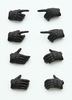 photo of Little Armory (OP03) figma Tactical Glove Stealth Black