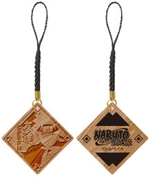 main photo of Naruto Shippuuden Trading Wood Strap: Naruto Uzumaki