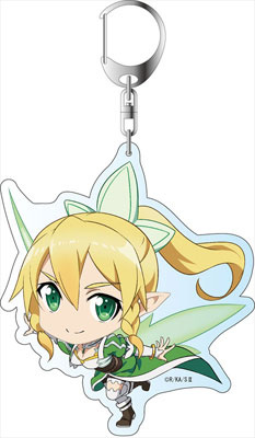 main photo of Sword Art Online II Deka Keychain: Leafa