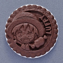 main photo of CHARA FORTUNE Cookie Series ONE PIECE Biscuit Fortune Telling: Monkey D.Luffy Chocolate Ver.