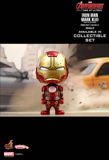 main photo of Cosbaby (S) The Avengers ~Age of Ultron~ Series 1.5 Collectible Set: Mark XLV Battle Damaged Ver.