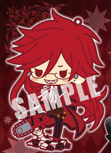 main photo of -es series nino- Black Butler Book of Circus Rubber Strap Collection: Grell Sutcliff Figure Ver.