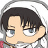 Chimi Shingeki Earphone Jack Mascot Vol.2: Levi Cleaning Ver.