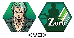 main photo of One Piece Rotating Keychain: Zoro
