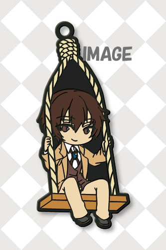 main photo of Eformed Bungo Stray Dogs Buranko Rubber Mascot Strap: Osamu Dazai