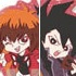 Yu-Gi-Oh! King Series Pair Rubber Strap: Judai Yuki & Jun Manjoume