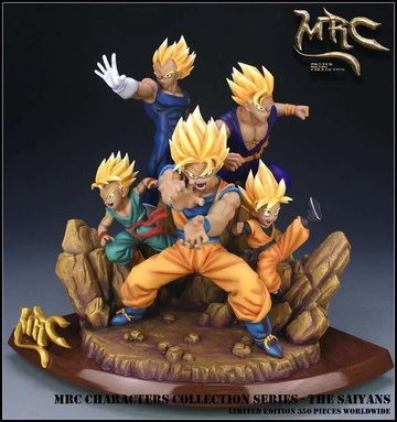 main photo of Characters Collection Series The Saiyans Resin Statue
