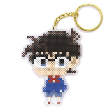 main photo of Detective Conan Iron Beads Style Keychain: Conan Edogawa