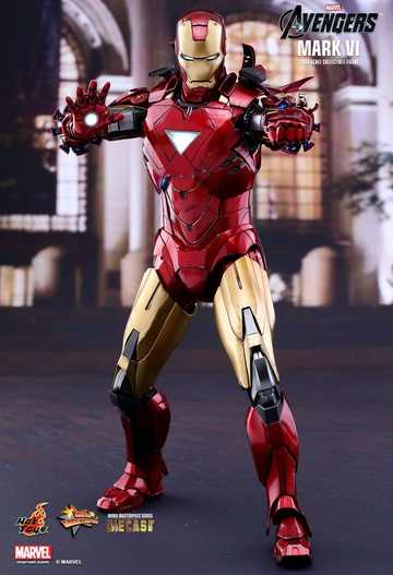 main photo of Movie Masterpiece Diecast Iron Man Mark VI