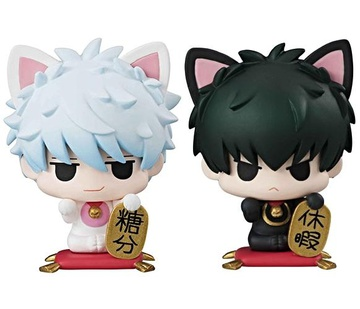 main photo of Petit Chara! Series Gintama° Sakata Gintoki & Hijikata Toushirou Maneki Makuri Neko Set