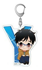 main photo of Yuri on Ice Mojimojikko Acrylic Keychain: Yuuri