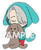 photo of Yuri!!! on Ice Rubber Strap Set: Victor Nikiforov & Makkachin
