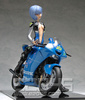 photo of Rei Ayanami with Motorcycle