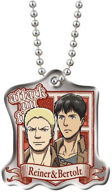 main photo of Shingeki no Kyojin Metal Plate: Bertholt, Reiner