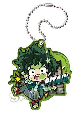 main photo of Boku no Hero Academia ~Pita! Deforme~ Casual Wear Acrylic Keychain: Midoriya