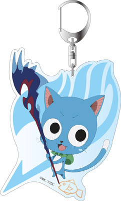 main photo of Movie FAIRY TAIL -DRAGON CRY- Deka Keychain: Happy