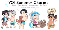 photo of YOI Summer Charms: Yuri & Victor