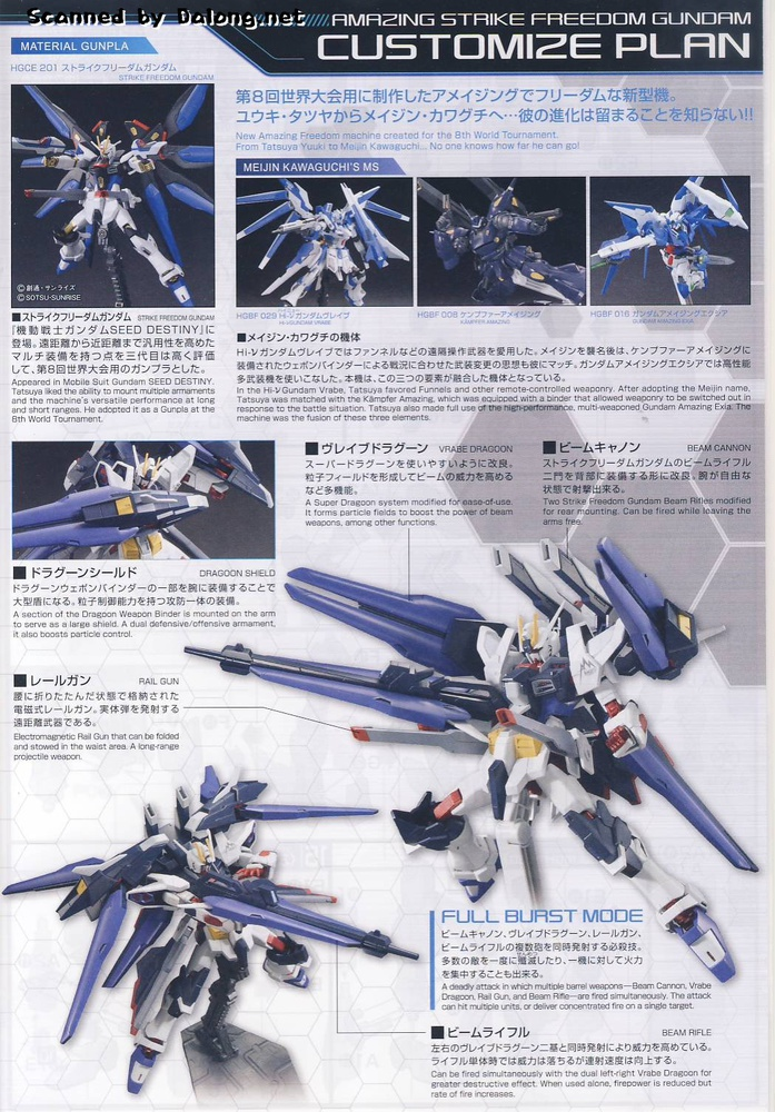 Hgbf Zgmf X10a A Amazing Strike Freedom Gundam My Anime Shelf