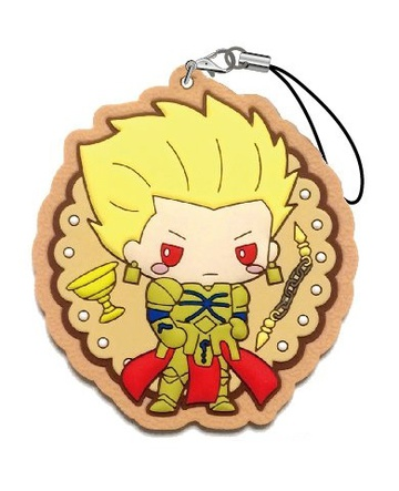main photo of Fate/Grand Order Design Produced by Sanrio Icing Cookie Rubber Strap: Gilgamesh