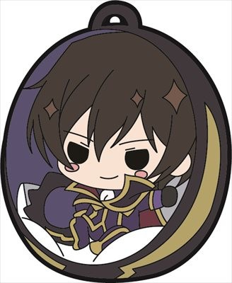 main photo of Code Geass Hangyaku no Lelouch III Oudou Rubber Strap: Lelouch Lamperouge Zero Ver.