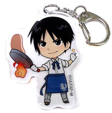 main photo of FULLMETAL ALCHEMIST×PRINCESS CAFE Acrylic Key Holder: Roy Mustang