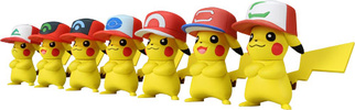 photo of Pokemon MonColle EX 20th Anniversary Satoshi no Pikachu: Pikachu Best Wishes hat ver.