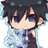 Gyugyutto Acrylic Keychain FAIRY TAIL: Gray Fullbuster