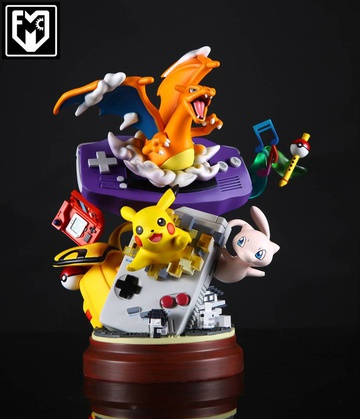 main photo of Nintendo Game Boy with Charizard, Pikachu, Mew Resin