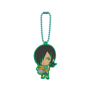 main photo of Mobile Suit Gundam 00 Capsule Rubber Mascot 02: Allelujah Haptism Clear Green Ver.