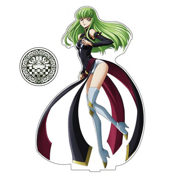 main photo of Code Geass: Lelouch of the Rebellion Acrylic Figure L: C.C. Order of the Black Knights Ver.