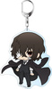 photo of Bungo Stray Dogs DEAD APPLE Deka Keychain PuniChara: Osamu Dazai Kuro no Jidai Ver.