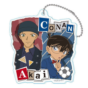 main photo of Detective Conan Twin College Series Acrylic Keychain: Conan & Akai
