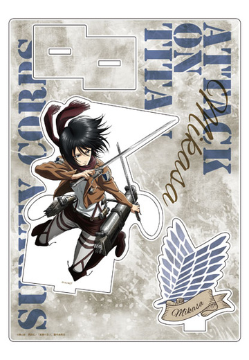 main photo of Shingeki no Kyojin x The Chara Shop Acrylic Stand: Mikasa Ackerman