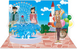 photo of Detective Conan Acrylic Stand w/Background: Amusement Park