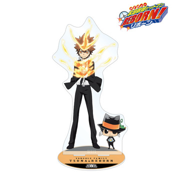 main photo of Katekyo Hitman REBORN! ~10yrs Later~ BIG Acrylic Stand: Sawada & Reborn
