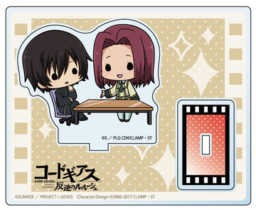 main photo of Code Geass: Lelouch of the Rebellion Acrylic Stand Chara Teiru: Lelouch & Kallen