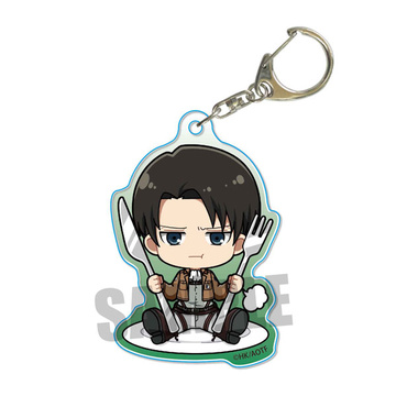 main photo of Gochi Chara Acrylic Keychain Attack on Titan: Levi